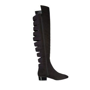Nine West Owheno Fabric Over The Knee Flat Boot